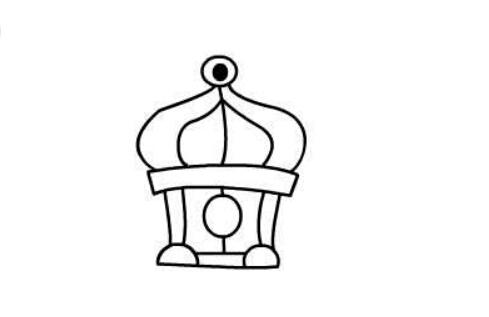 宫殿简笔画绘画步骤三