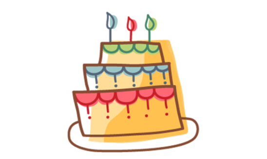 兒童簡筆畫蛋糕,生日蛋糕簡筆畫圖片