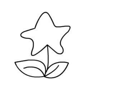星星花朵简笔画绘画步骤三