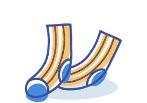 幼儿简笔画袜子(6)