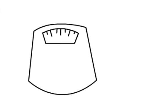 电子秤的儿童简笔画(3)