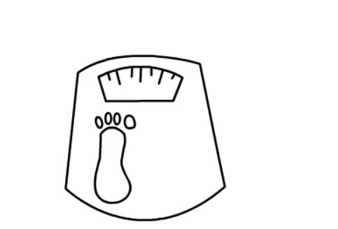 电子秤的儿童简笔画(4)