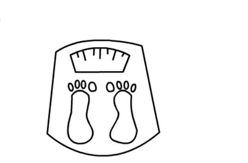 电子秤的儿童简笔画(5)
