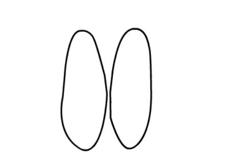 儿童简笔画鞋子,帆布鞋的简单画法