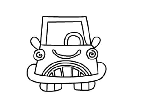儿童画小轿车简单画法