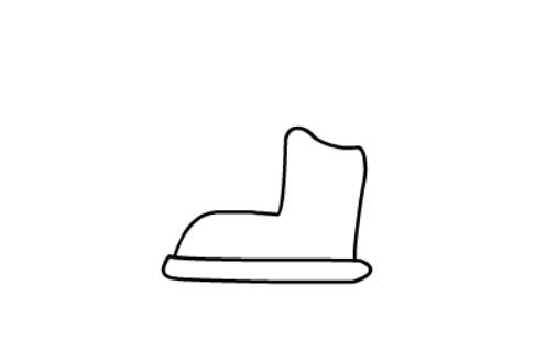 儿童简笔画滑冰鞋(3)