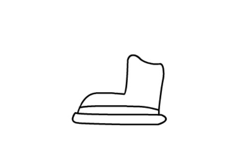 儿童简笔画滑冰鞋(4)
