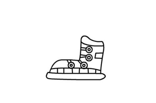 儿童简笔画滑冰鞋的简单画法