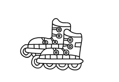儿童简笔画滑冰鞋(8)