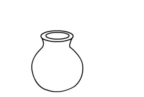 简笔画花瓶的画法,儿童简笔画漂亮的花瓶
