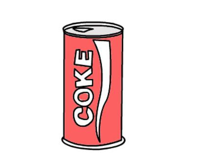 可口可乐简笔画_儿童画可乐瓶的简笔画图片