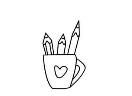 儿童画笔筒_简笔画笔筒的画法