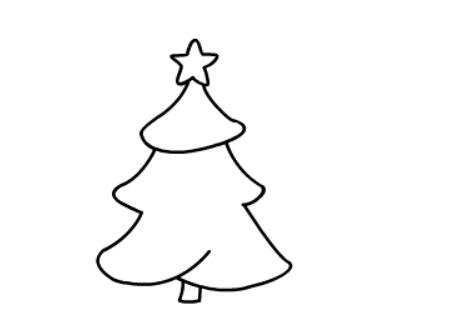幼儿简笔画圣诞树_圣诞树简笔画图片大全