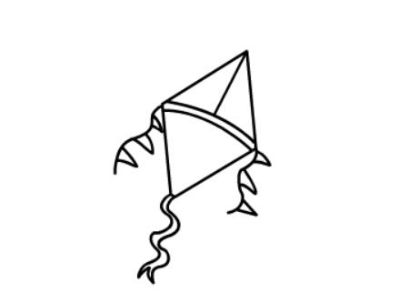 幼儿简笔画风筝的画法