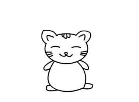 小猫咪简笔画绘画步骤七