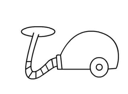 吸尘器简笔画绘画步骤四