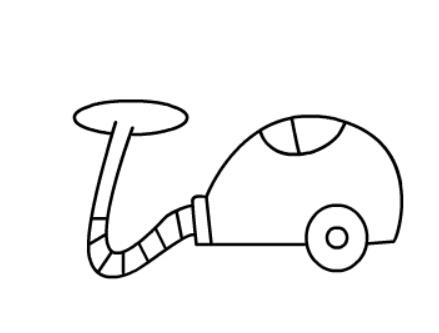 吸尘器简单画法_儿童简笔画吸尘器