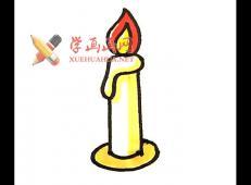 儿童简笔画:蜡烛的画法