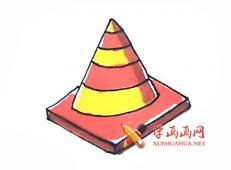 彩色路障的简笔画画法教程