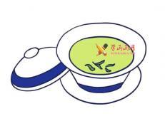 一杯清茶的简笔画画法教程【彩色】