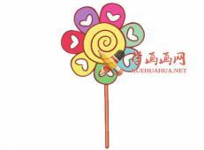 美味的糖果的简笔画画法教程【彩色】