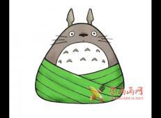 龙猫的粽子的简笔画【彩色】