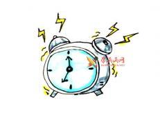 简单的步骤教你画闹钟的简笔画【彩色】