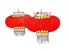 七步教你画红灯笼的简笔画【彩色】