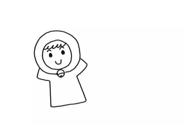 堆雪人的小女孩彩色画法教程【彩色】(2)