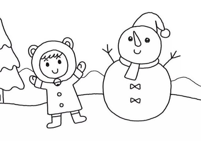 堆雪人的小女孩彩色画法教程【彩色】(6)