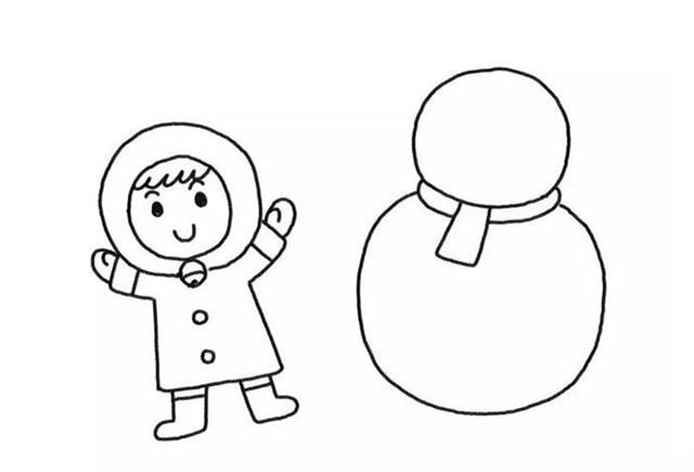 堆雪人的小女孩彩色画法教程【彩色】(4)