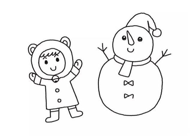 堆雪人的小女孩彩色画法教程【彩色】(5)
