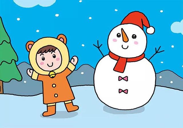 堆雪人的小女孩彩色画法教程【彩色】(7)