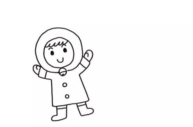堆雪人的小女孩彩色画法教程【彩色】(3)