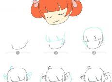 9款小女孩的卡通头像教程