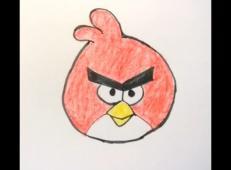 儿童学画画:教你画愤怒的小鸟简笔画