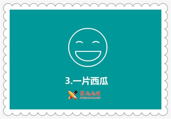 简笔画大笑的人物表情画法(3)
