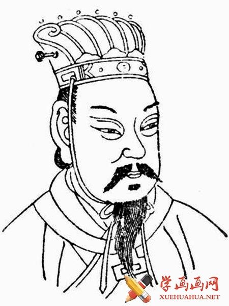 曹操简笔画图片__古代人物