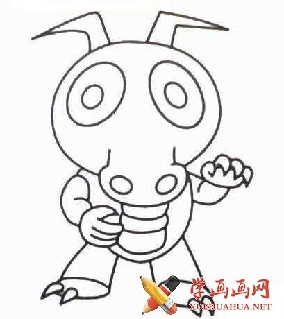 儿童学画画:奥特曼打小怪兽简笔画图片