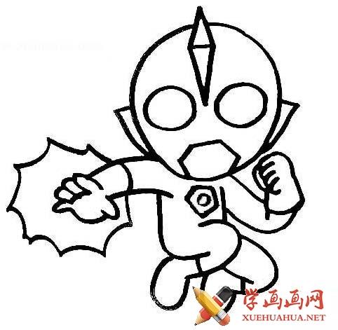 儿童学画画_奥特曼简笔画图片集【11p】(8)