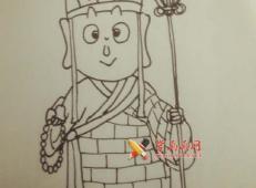 简单手绘教程:简笔画唐僧的画法