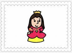 简笔画小公主的画法步骤