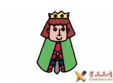 简笔画小王子的画法教程