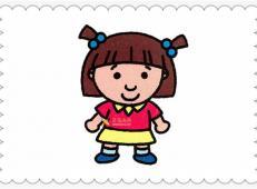 简笔画小女孩的画法