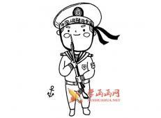 中国军人的简笔画画法素材大全