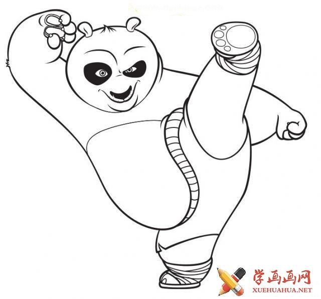儿童学画画_关于功夫熊猫的简笔画图片11张