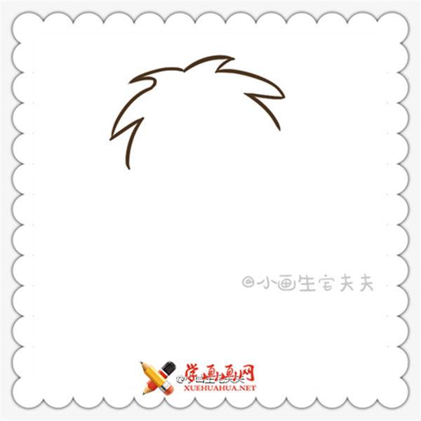 简笔画旺仔的画法(3)