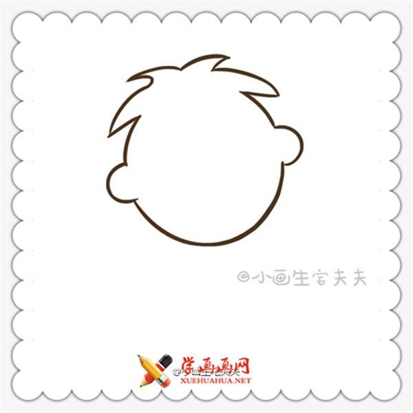 简笔画旺仔的画法(4)