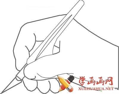 手握笔姿势简笔画图片(1)