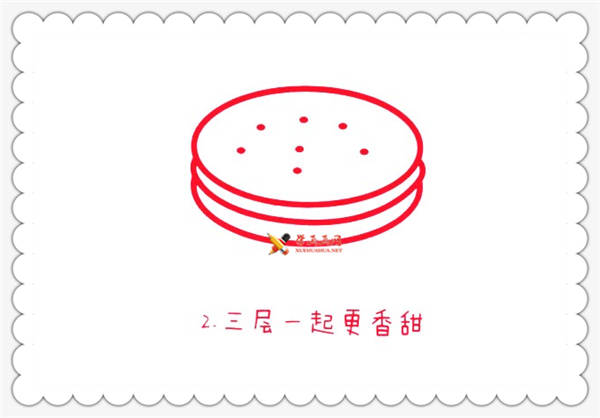 简笔画夹心饼干的画法(2)